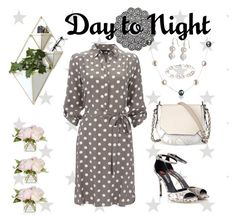 """""""Dots Shirt Dress - Day to Night"""" by ana3blue ❤ liked on Polyvore featuring Bling Jewelry, Wallis, rag & bone, Umbra and Nordic Gems"""