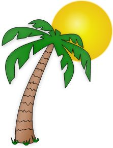 Two palm trees with coconut for ts tropicales cocotier - Dessin anime cocotier ...