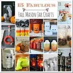 Fall Crafts in Jars Ideas - Mason Jar Crafts Love