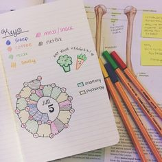 3-28pm:  JUNE 5, 1:56am // Attempting to use a spiraldex for the first time in my bullet journal! I need to switch things up every once in a while in order to stay motivated!