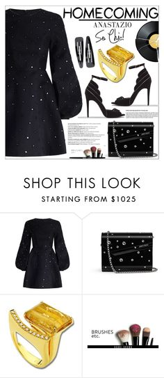 """Anastazio-Homecoming Style"" by anastazio-kotsopoulos ❤ liked on Polyvore featuring Zimmermann, Jimmy Choo, Anastazio, Bobbi Brown Cosmetics, Balmain and Forever 21"
