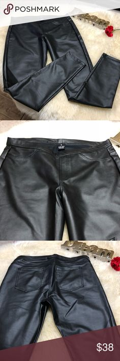 "HUE faux leather leggings These are fantastic for this season & very comfy. Inseam: 28 1/2"" long. NWOT HUE Pants Leggings"