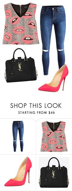 """Untitled #339"" by jovanaaxx on Polyvore featuring River Island, Christian Louboutin and Yves Saint Laurent"