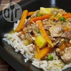Recipe photo: Thai chicken curry with pineapple