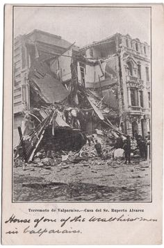 TERREMOTO VALPARAISO EARTHQUAKE 1906, POSTALES CHILE PPC POSTCARDS Postcards, Retro, Painting, Amor, Antique Photos, Past Tense, History, Painting Art, Rustic