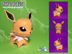 Paperpokés- Pokémon Papercrafts: JOLTEON CHIBI