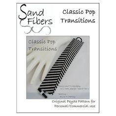 Modèle de peyotl - manchette Peyote Transitions Pop classique / Bracelet - fibres A sable pour personnel/Commercial Use Pattern PDF