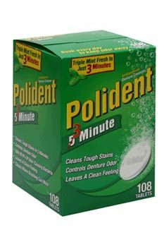 Use denture cleaner tablets to clean your shower head, unclog a drain, clean your toilet, clean diamonds and glass beads,mineral deposits in flower vases, clean stained fingernails, and more.