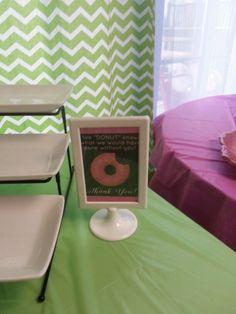 Donut sign