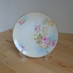 Rudolstadt pastel plate with pink yellow green by TheCastOffQueen