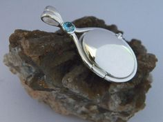 925 Sterling Silver 4 mm Aquamarine Locket H2O Just Add Water Mermaids Pendant