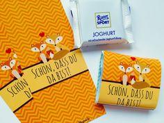 Gastgeschenke - 25 Gastgeschenk Taufe - Banderolen Fuchs - ein Designerstück von Kindsglueck bei DaWanda