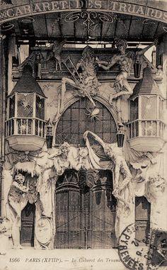 Paris, le Cabaret des Truands, vers 1910.