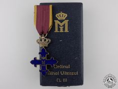 A Romanian Order of Michael the Brave; Knight's Cross with Cas Brave, Knight, Decorations, Home, Dekoration, Ornaments, Cavalier, Decor, Knights
