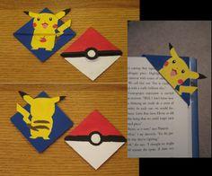 Pikachu & Pokeball corner bookmarks! #pokemon