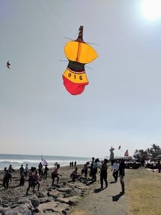 A Balinese kite participating in a kite contest.