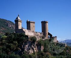 France, Ariege, Chateau Foix Castle
