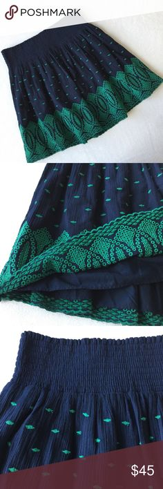 J.Crew Embroidered Skirt 🌷Please Read the description! Thanks!🌷  Brand new with tag Size: M Retail: $79.5 Color: navy  🌷Price is FIRM unless bundled 🌷NO Trades         🌷NO Holds 🌷All sales are final Welcome product-related questions! You are responsible for your size. J. Crew Skirts