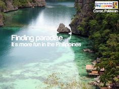 Finding paradise It's more fun in the Philippines Around The World In 80 Days, Around The Worlds, Philippines Tourism, Coron Palawan, Visayas, Mindanao, Life Is An Adventure, More Fun, Paradise