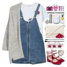 """""""Cute Spring Dress"""" by doga1 ❤ liked on Polyvore featuring MANGO, Zara, Forever 21, Crabtree & Evelyn, Pier 1 Imports, Eva Solo, esum, Gallery and springdress"""