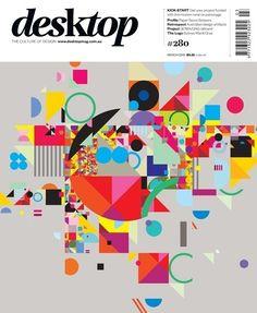 Desktop magazine March 2012 cover by StudioBrave in Cover magazine