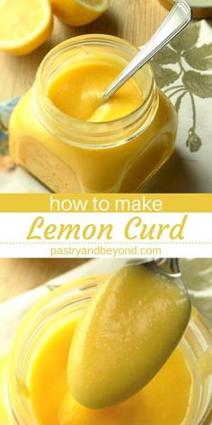 Homemade Lemon Curd-You can make this silky and tangy homemade lemon curd with only 4 ingredients! This easy recipe is a delicious filling for sweet treats: cakes, tarts, cookies, etc. Recipes with few ingredients Homemade Lemon Curd Lemon Desserts, Lemon Recipes, Easy Desserts, Easy Recipes, Sweet Recipes, Easy Lemon Curd, Lemon Curd Filling, Lemon Bars, Lemon Curd Cake