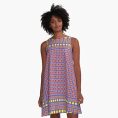 Squares and circles in the right arrangement. A-Line Dress Front