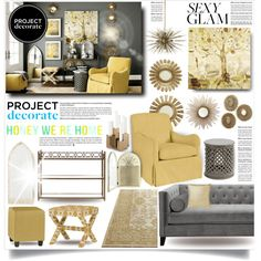 """Project Decorate: Sexy Glam With Honey We're Home"" by designsbytraci on Polyvore"
