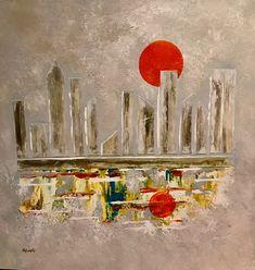 skyline 2 -Obra unica original de goloviarte - Zaragoza - España , #ABSTRACTO