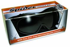 Over Glasses Motorcycle Goggles  Shatterproof Polycarbonate Goggles with Interchangeable Smoke and Clear Lenses >>> Be sure to check out this awesome product.