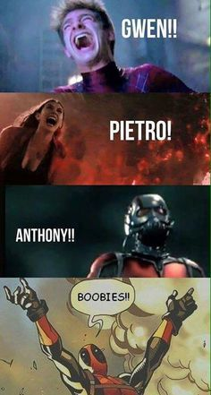 Marvel Has It's Share of Heartbrakes and then there's deadpool Avengers Humor, Marvel Jokes, Funny Marvel Memes, Dc Memes, Marvel Vs, Marvel Dc Comics, Marvel Heroes, Funny Comics, Funny Memes