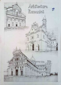 Istorie – Page 2 – Vlad Bucur Architecture Drawing Plan, Architecture Sketchbook, Church Architecture, Classic Architecture, Historical Architecture, Architecture Design, Architects Quotes, Travel Sketchbook, Building Sketch