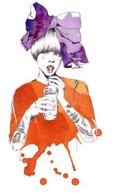esra Roise   illustration  fashion  watercolor