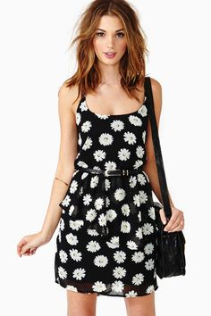 Lazy Daisy Peplum Dress in Clothes Dresses Wild Flowers at Nasty Gal
