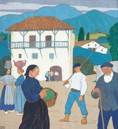 Ramiro Arrue - Village Navarrais