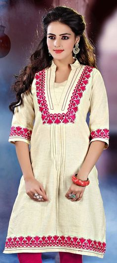 423830: A mix of cotton and Khadi, this #Tunic is for regular workaholics -  Order at flat 15% off.  #OnlineShopping #kurti