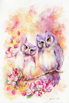 Love is in bloom - ORIGINAL watercolor painting 15x22 inches by WaysideBoutique on Etsy