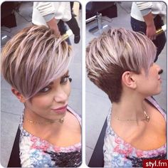 "Pixi Cut [ ""Pixie cut with long bangs and lavender highlights."", ""Gorgeous pixie and colour! Love the ""piecey"" look to this! Wish I could style my hair like this "", ""Short Pixie Hairstyles 2014 – 2015 i want to get this for my next haircut it is fabulous"", ""Short Pixie Hairstyles 2014 – 2015 – Page 2 of 21 – Latest Bob HairStyles"", ""Looking at these Short Pixie Hairstyles 2014 - you will be able to choose a few easy to do hairstyles that are going to make it easier for you to ge..."