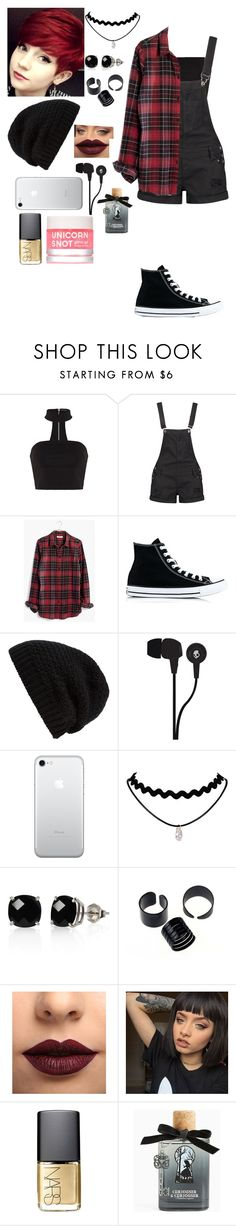 """""""If you can not sleep at night that's how you know sh*t is real. If you ever want to die fall in love and you get killed"""" by j-j-fandoms ❤ liked on Polyvore featuring Boohoo, Madewell, Converse, Rick Owens, Skullcandy, Belk & Co., LASplash, NARS Cosmetics and Torrid"""