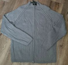 Bachrach Mens Cardigan Sweater XXL Gray 100% Wool Full Zipper #Bachrach #Cardigan Ditch The Carbs, Sweater Cardigan, Men Sweater, Cut Clothes, Natural Eyelashes, Magnetic Eyelashes, Women's Handbags, Fast Weight Loss, Pouches