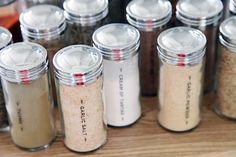 59 DIY Spice Jar Labels Although you are probably ready for another kitchen renovation update, today's kitchen post isn't as grand as a full space reveal or even a . Spice Jar Labels, Spice Jars, Small Kitchen Renovations, Cream Of Tarter, Kitchen Post, Kitchen Ideas, Country Kitchen, Spice Organization, Organizing Tips
