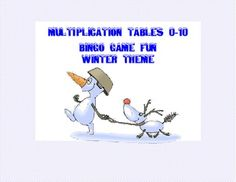 Bingo Game for Multiplication Tables 0-10 Winter Theme There's a chill in the air and a possibility of snow. Now's the time to take out the fun multiplication bingo with the winter theme.There are five different themed cards that will warm your heart as your students get faster with their times tables!