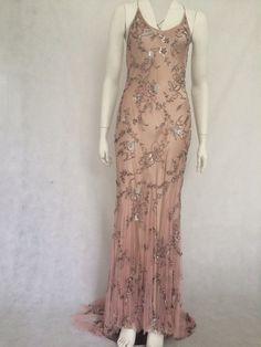 Jenny Packham Dusky Rose Pink Evening Gown £295 Size 12 UK