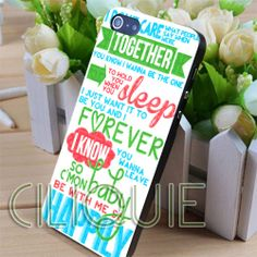 1D Happily Lyrics One Direction  iPhone 4/4s/5/5s/5c by ciliquie, $15.25
