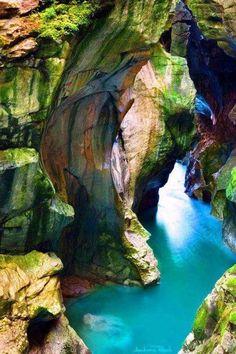 The dark gorge Salzburg, Austria...