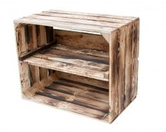 Nützliches : Geflammte Kiste für Schuh-und Bücherregal 50x40x30cm | Obstkisten-Online.de - Deutschlands größte Auswahl an alten und neuen dekorativen Apfelkisten, Weinkisten & Birnenkisten