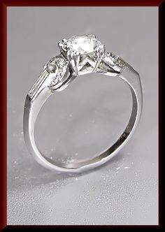 Platinum 1930 Antique Vintage Diamond by AntiqueJewelryNyc on Etsy, $3950.00