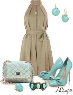 """Khaki & Blue Contest III"" by anna-campos on Polyvore"