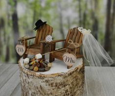 Roasting marshmallows wedding cake topper camping s'mores themed fire pit wedding marshmallow on sticks Mr&Mrs wedding signs country wedding Campground Wedding, Camp Wedding, Mr And Mrs Wedding, Wedding Cake Rustic, Wedding Topper, Wedding Signs, Dream Wedding, Rustic Weddings, Camping Wedding Theme