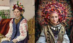 "Guided by archival photography, Treti Pivni is leading a resurgence in popularity of a traditional Ukrainian headdress known as a ""vinok."""